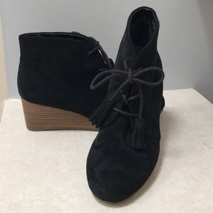 Dr. Scholl's Suede Wedge Booties
